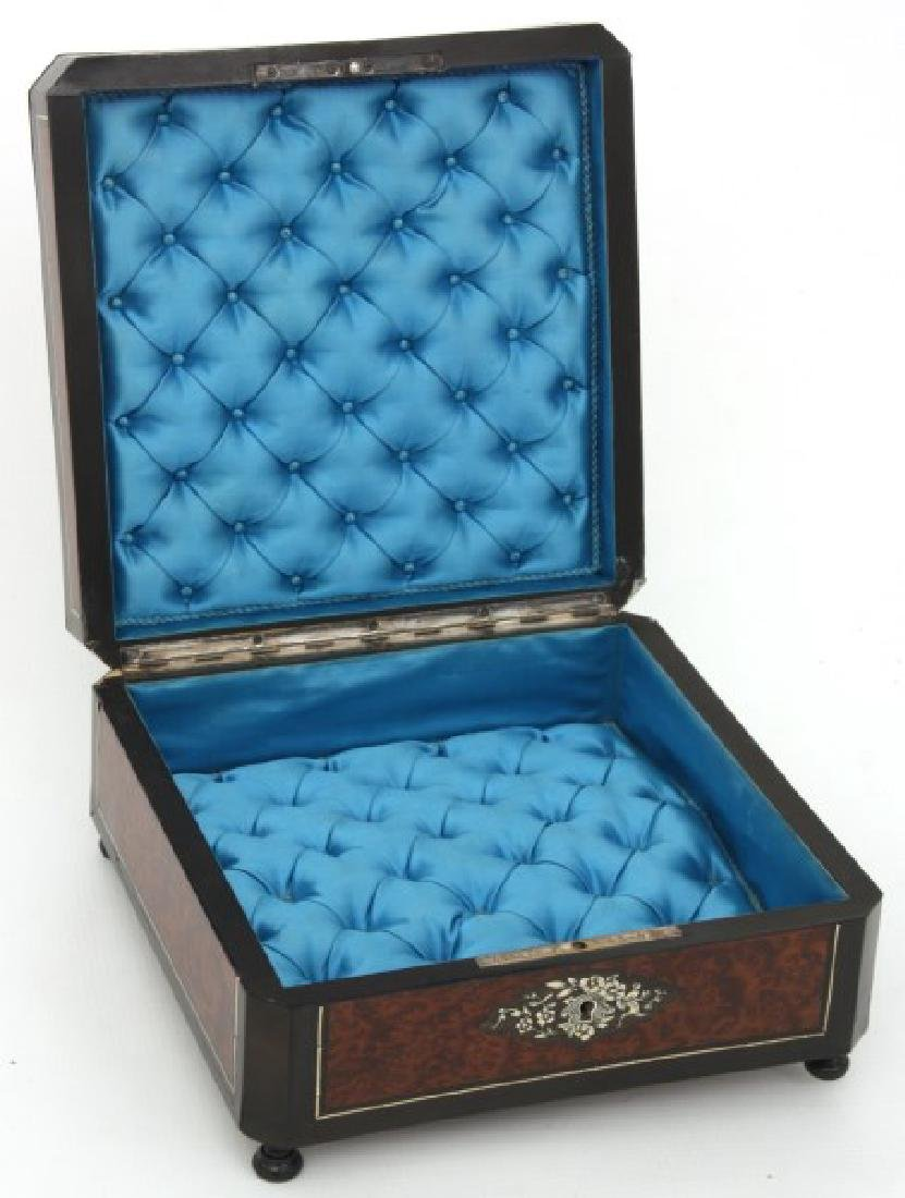 French Silver Inlaid Box - 9