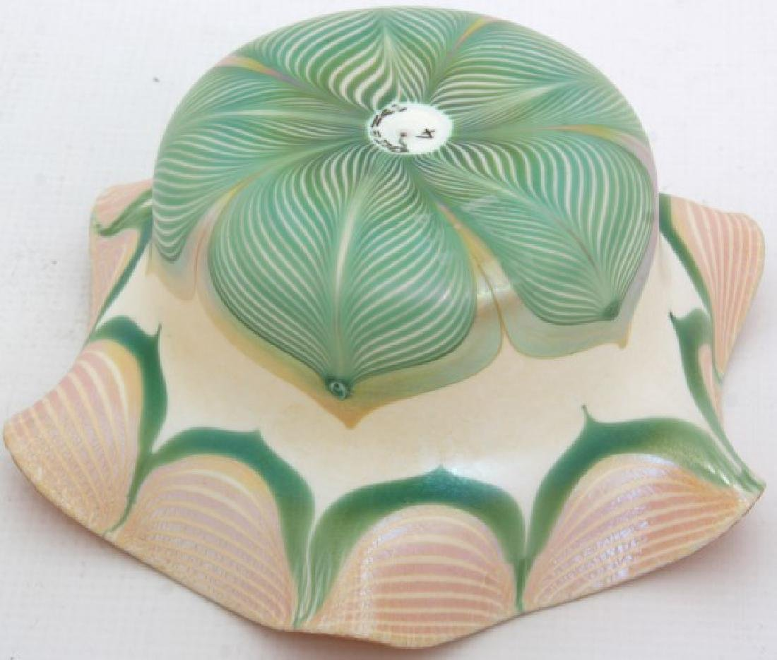 Quezal Pulled Feather Bowl - 4