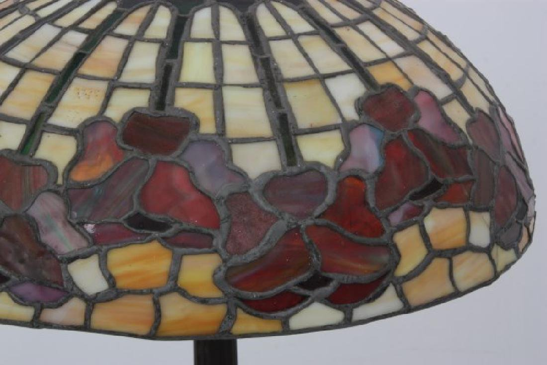 15.5 in. Leaded Floral Table Lamp - 2