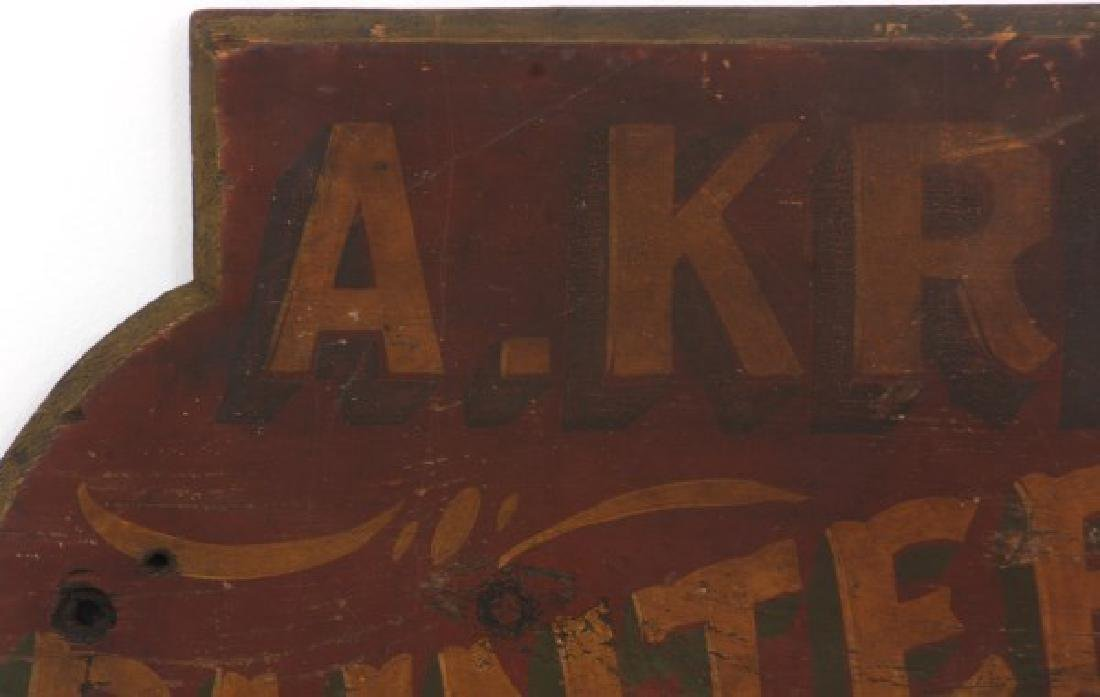Hand Painted Paper & Paperhanger Wooden Sign - 2