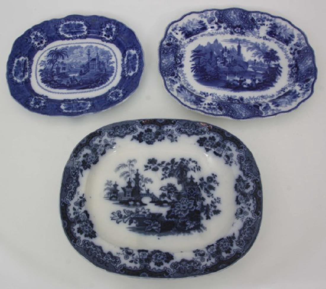 3 Pcs. Flow Blue and Transfer Soup Tureens - 7