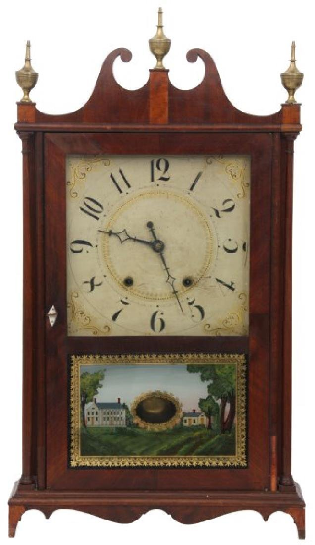 Eli Terry Pillar & Scroll Mantle Clock