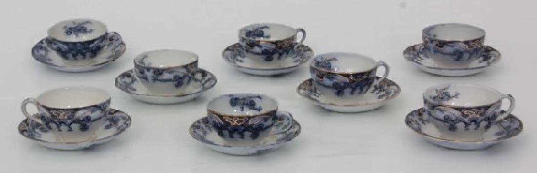 116 Pcs. Staffordshire Flow Blue – Iris Pattern - 6