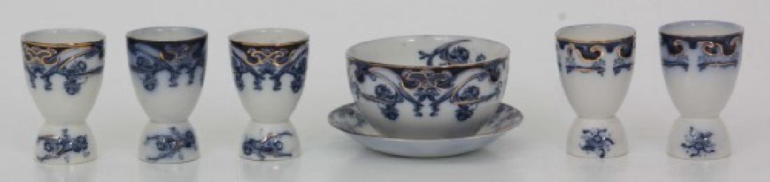 116 Pcs. Staffordshire Flow Blue – Iris Pattern - 7