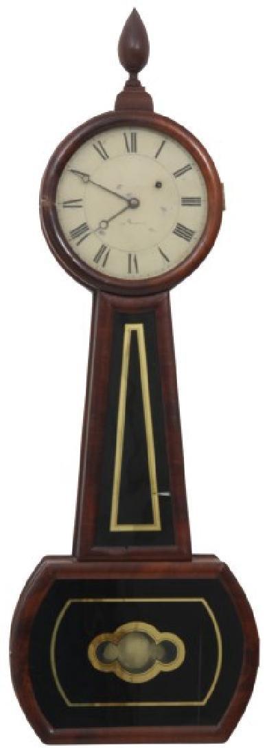 Tosely Mahogany Massachusetts Banjo Clock