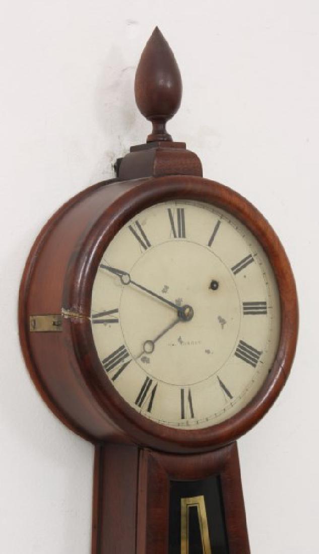 Tosely Mahogany Massachusetts Banjo Clock - 2
