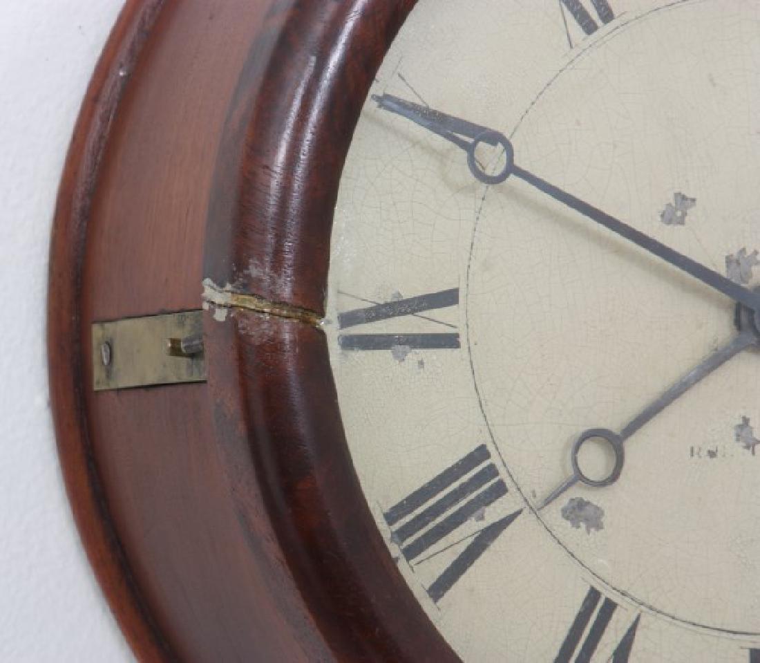 Tosely Mahogany Massachusetts Banjo Clock - 3