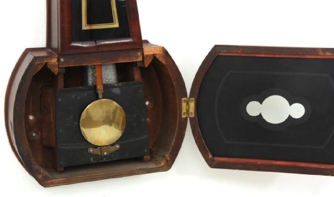 Tosely Mahogany Massachusetts Banjo Clock - 6