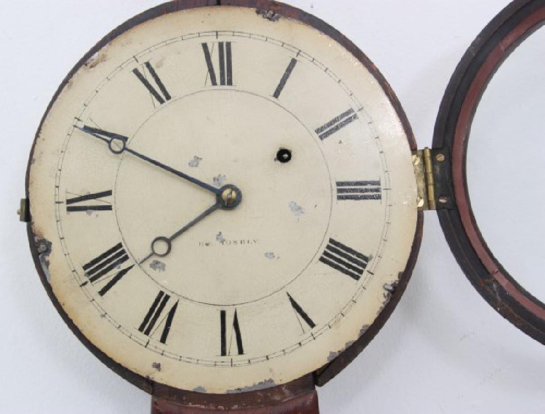 Tosely Mahogany Massachusetts Banjo Clock - 8