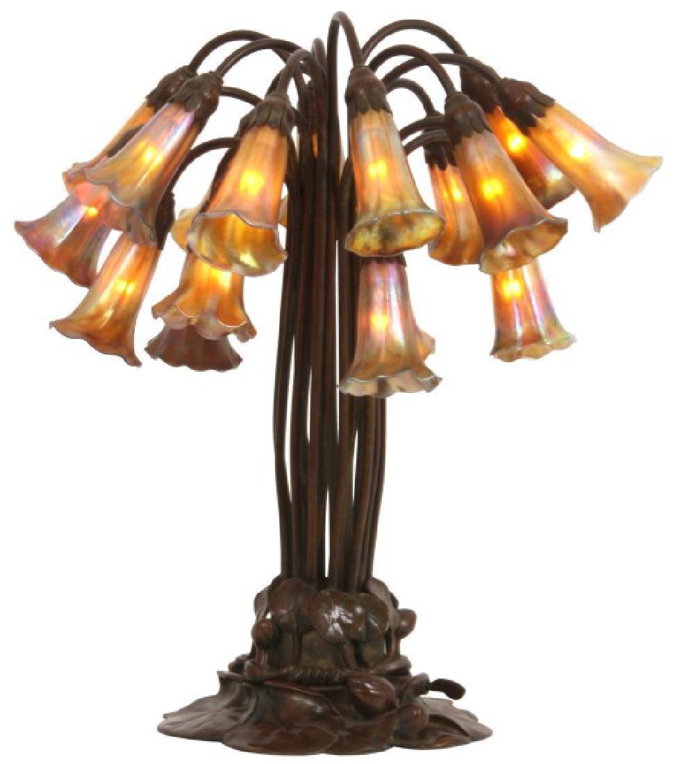 Rare Tiffany Studios 18 Light Lily Lamp