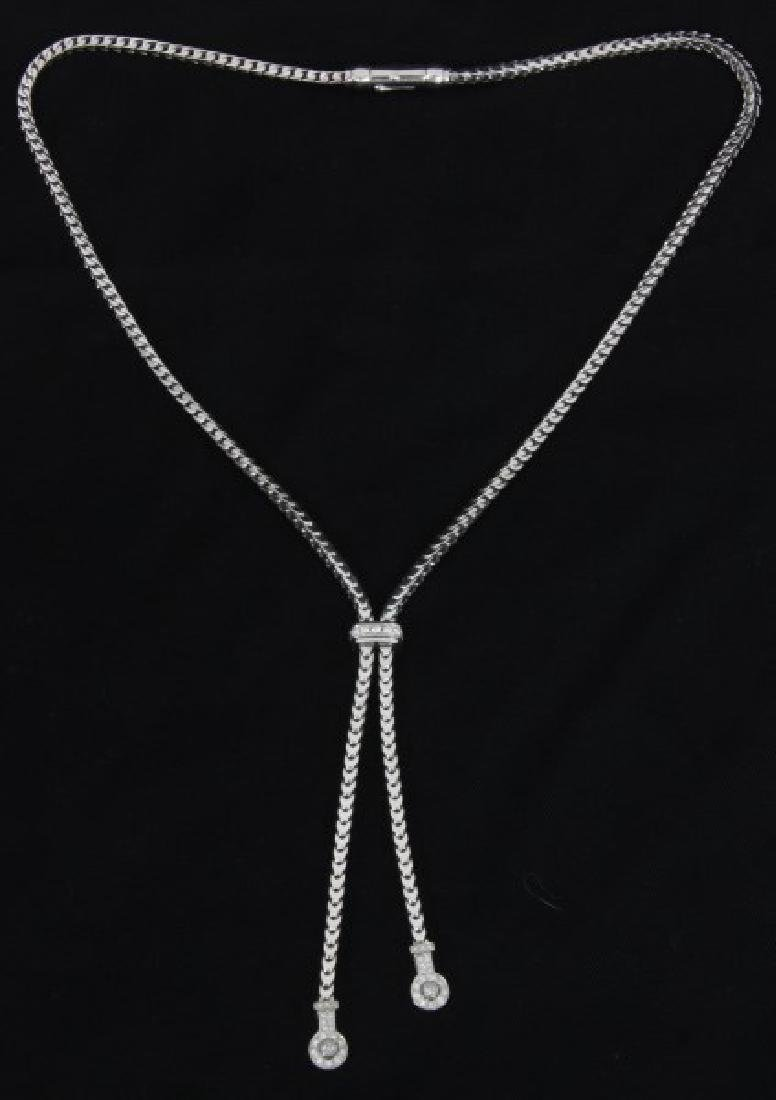 18K White Gold DiModolo Designer Necklace