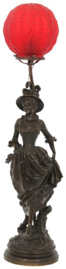 G. Obiols Bronze Tiffany & Co. Lamp