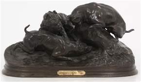 P.J. Mene Bronze Sculpture – The Rabbit Hunt