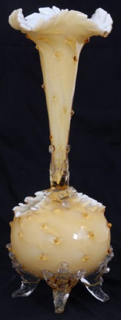 Attr. Stevens & Williams Art Glass Epergne