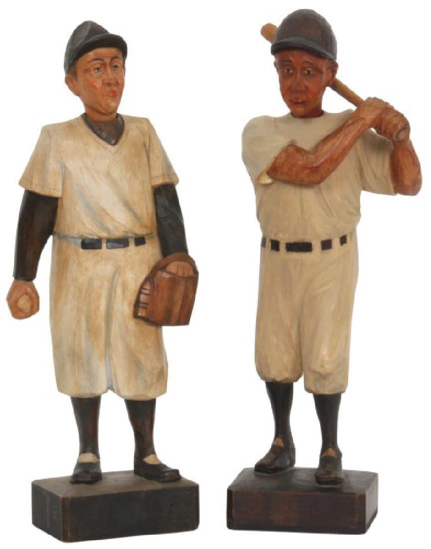Pr. Figural Baseball Whistler Automatons