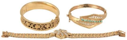 3 Pcs Marked 14K Gold Estate Jewelry