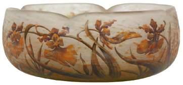 Daum Nancy Enamel Decorated Cameo Bowl