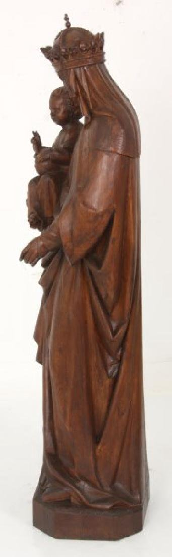 5 ft. Standing Figural Carved Madonna & Child - 10