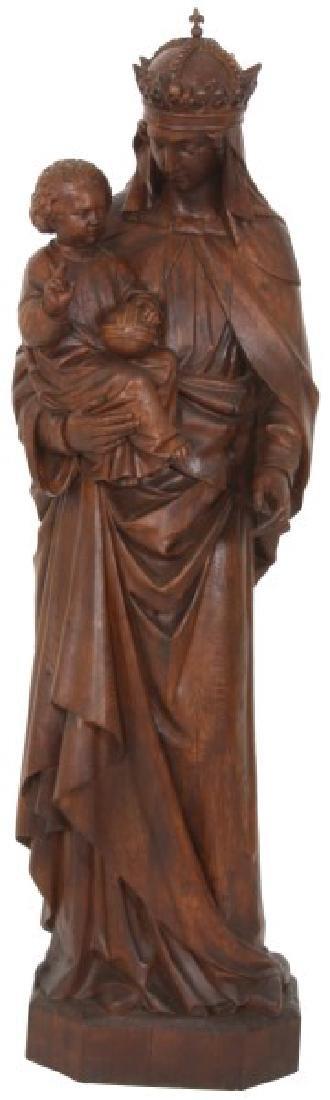 5 ft. Standing Figural Carved Madonna & Child