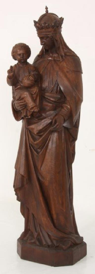 5 ft. Standing Figural Carved Madonna & Child - 2