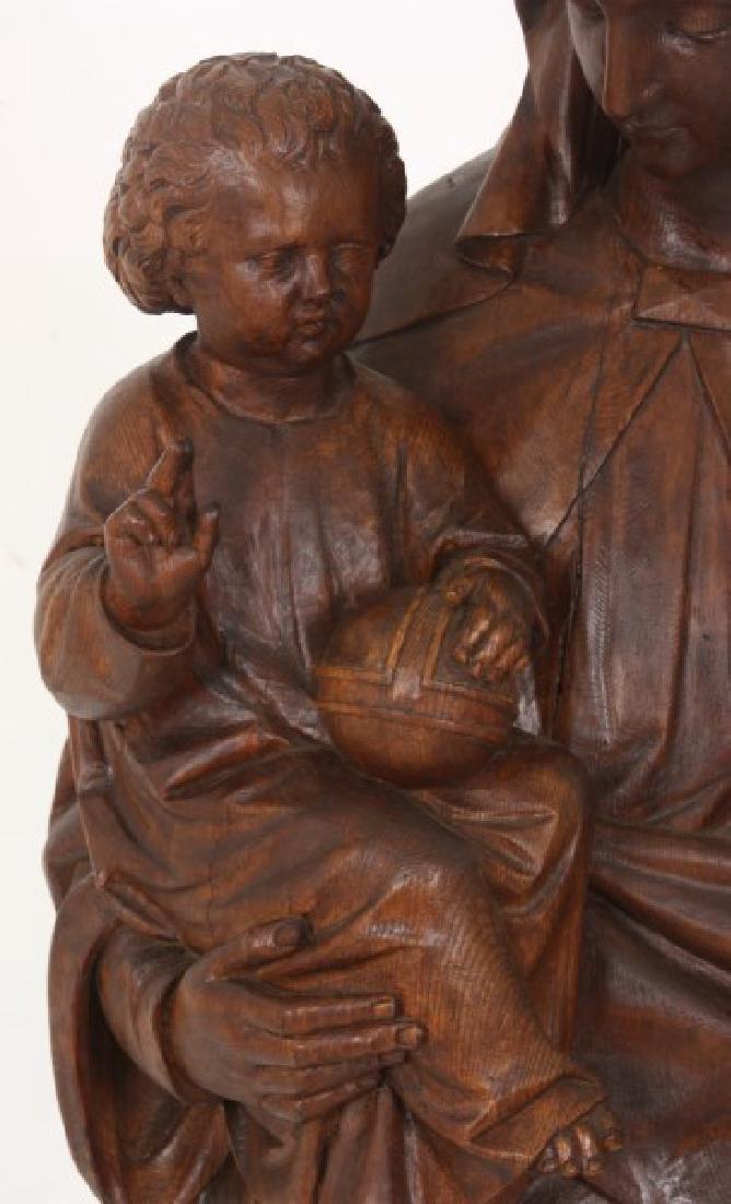 5 ft. Standing Figural Carved Madonna & Child - 3