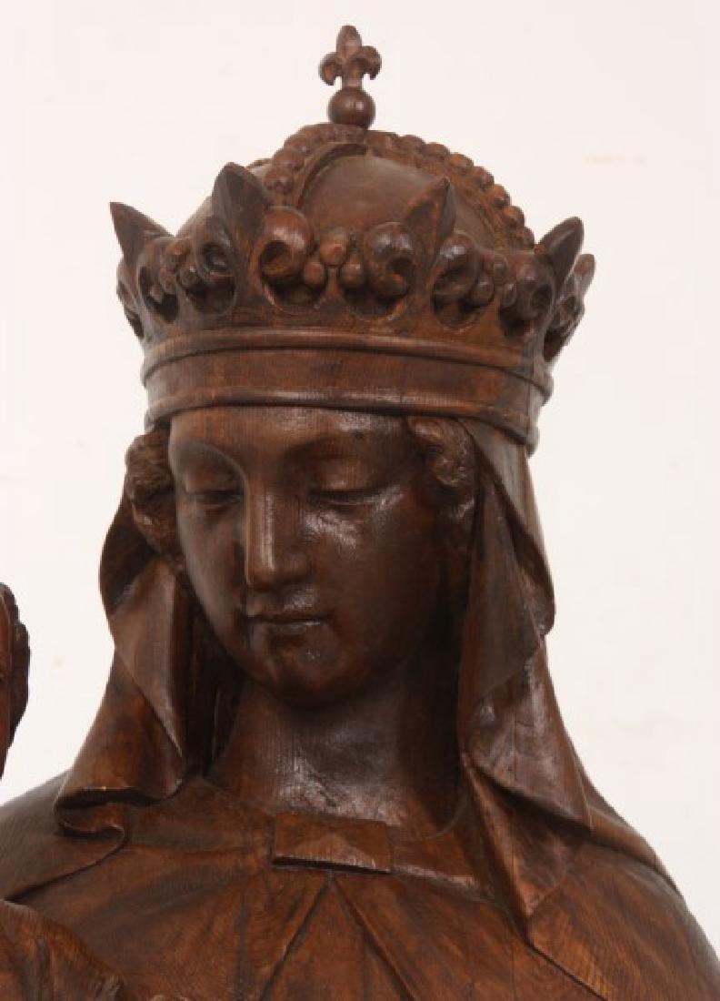 5 ft. Standing Figural Carved Madonna & Child - 4