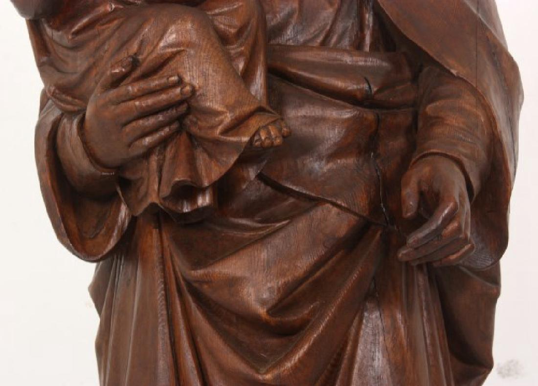 5 ft. Standing Figural Carved Madonna & Child - 5