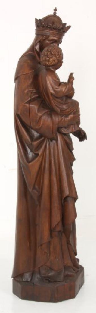 5 ft. Standing Figural Carved Madonna & Child - 8
