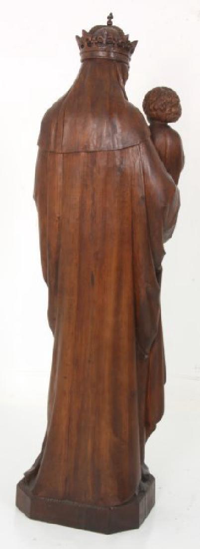 5 ft. Standing Figural Carved Madonna & Child - 9
