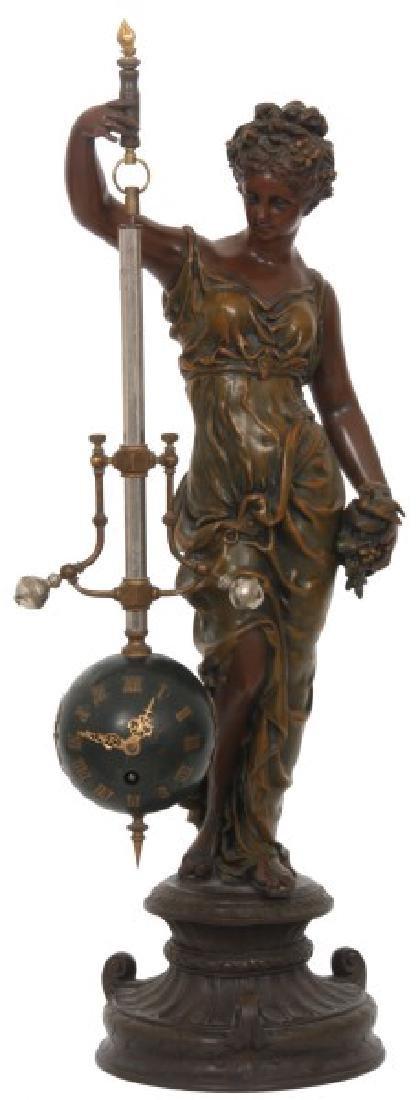 Figural Torsion Pendulum Mystery Clock