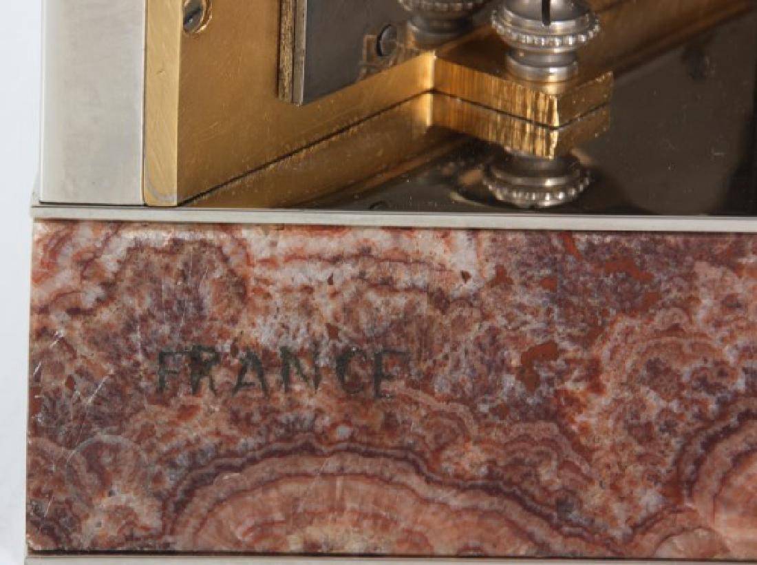 Marble & Chrome Deco Desk Clock - 10