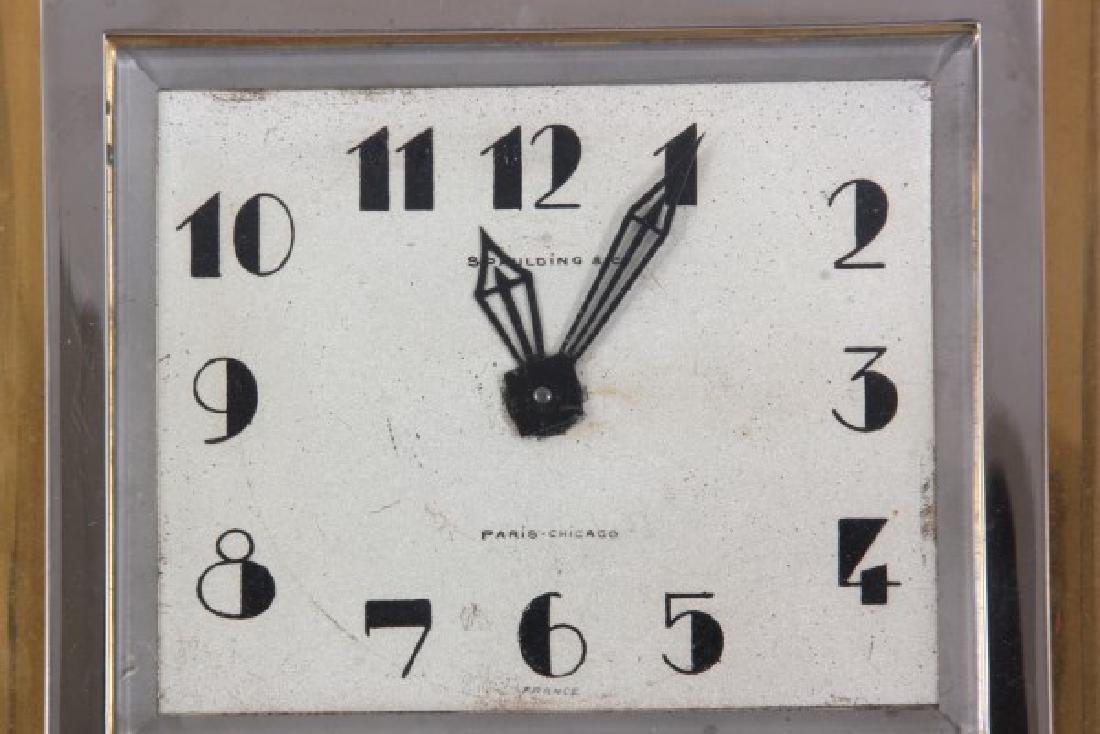 Marble & Chrome Deco Desk Clock - 4