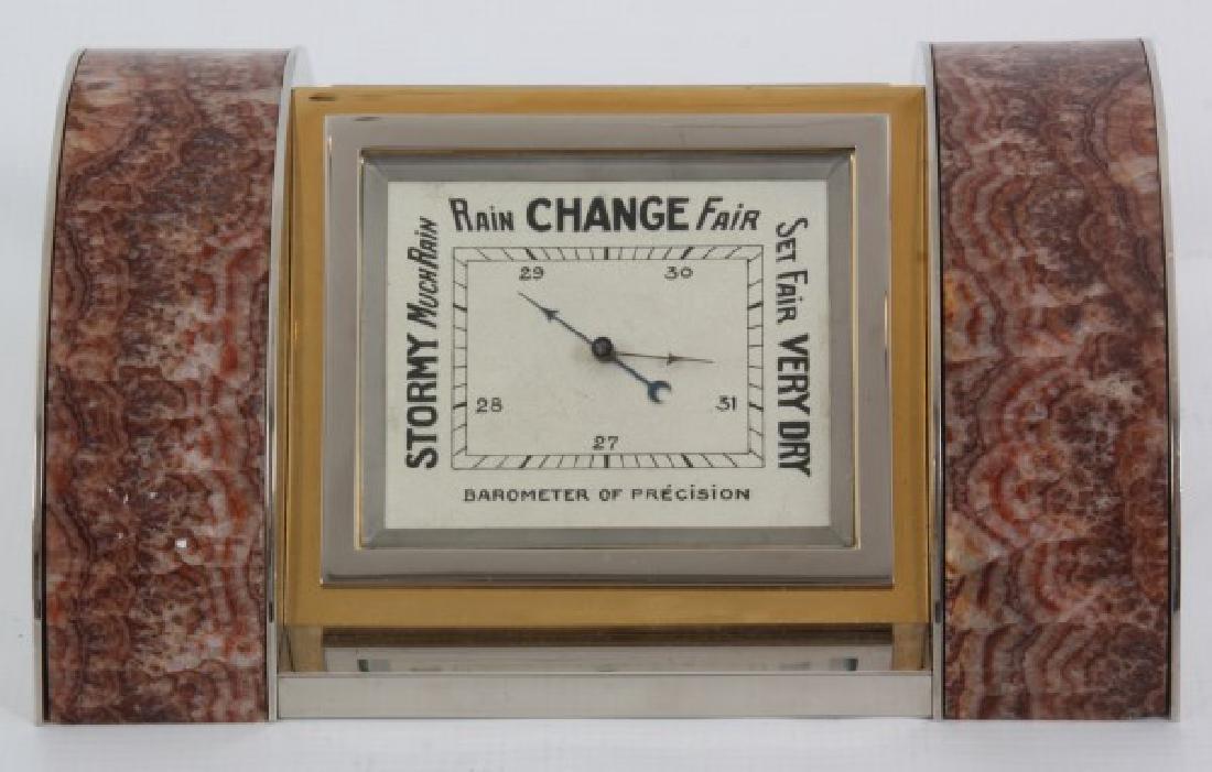 Marble & Chrome Deco Desk Clock - 6