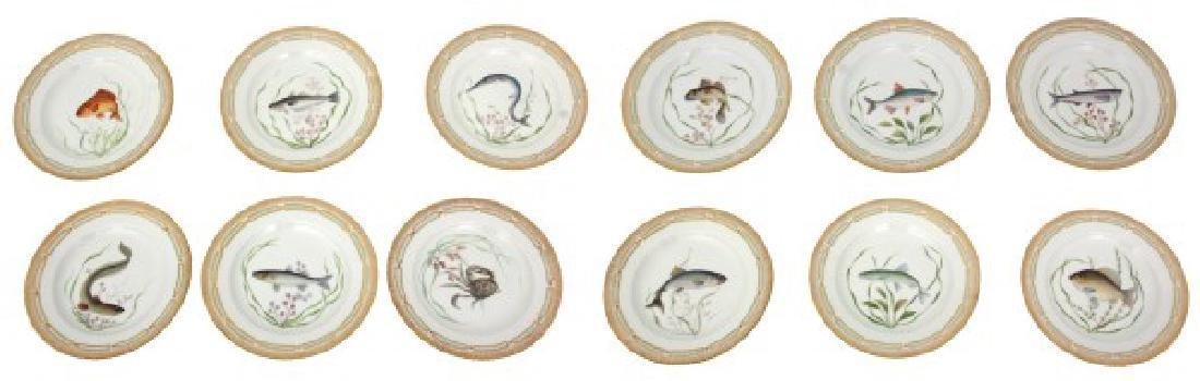 12 Royal Copenhagen Flora Danica Fish Plates - 2