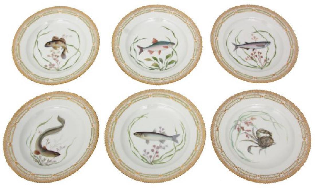 12 Royal Copenhagen Flora Danica Fish Plates - 3