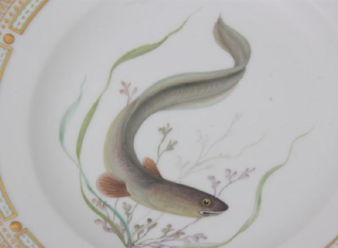 12 Royal Copenhagen Flora Danica Fish Plates - 5