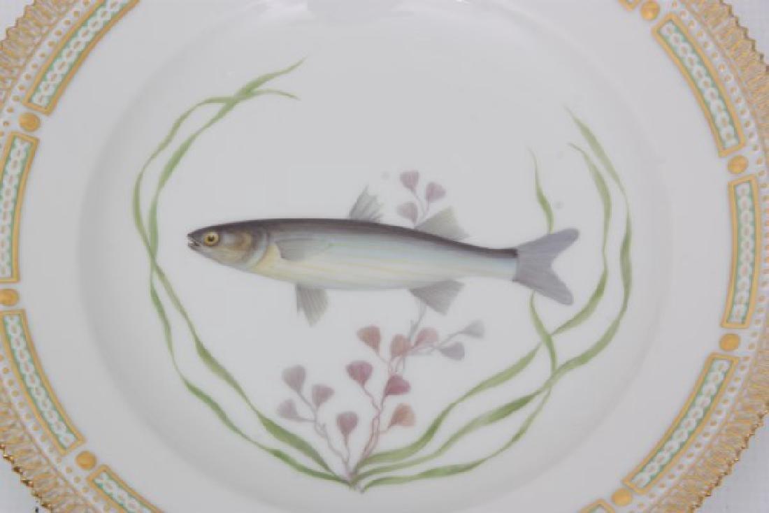 12 Royal Copenhagen Flora Danica Fish Plates - 6