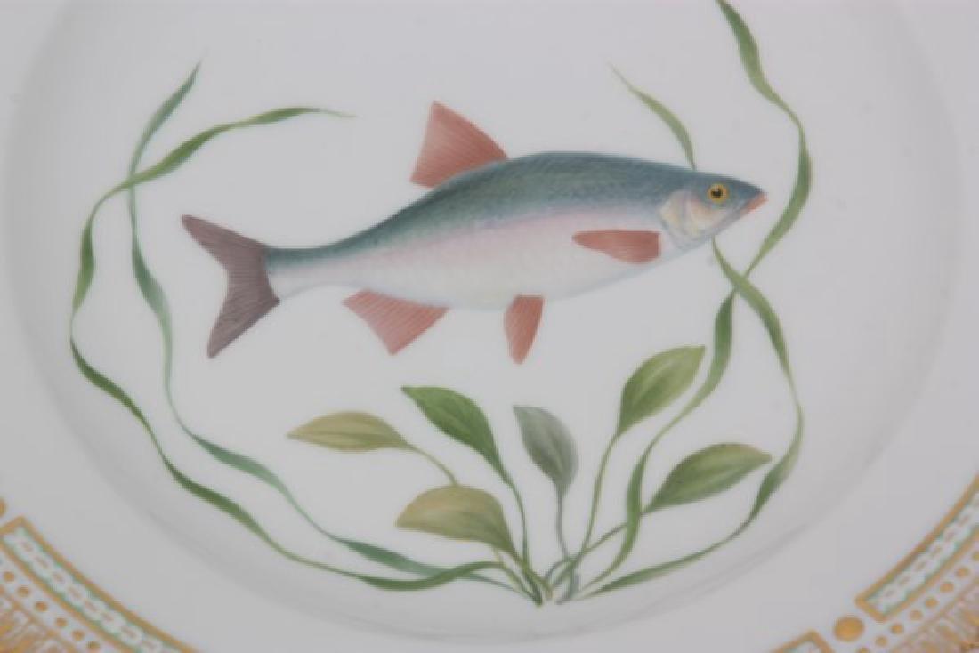 12 Royal Copenhagen Flora Danica Fish Plates - 7