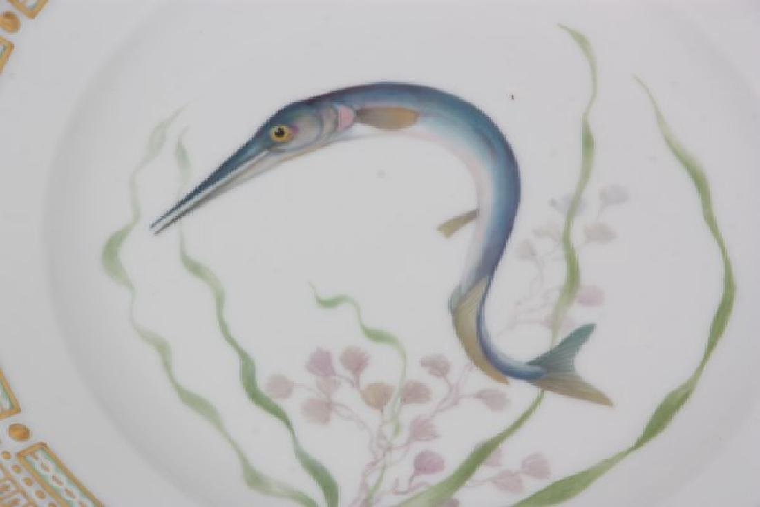 12 Royal Copenhagen Flora Danica Fish Plates - 8