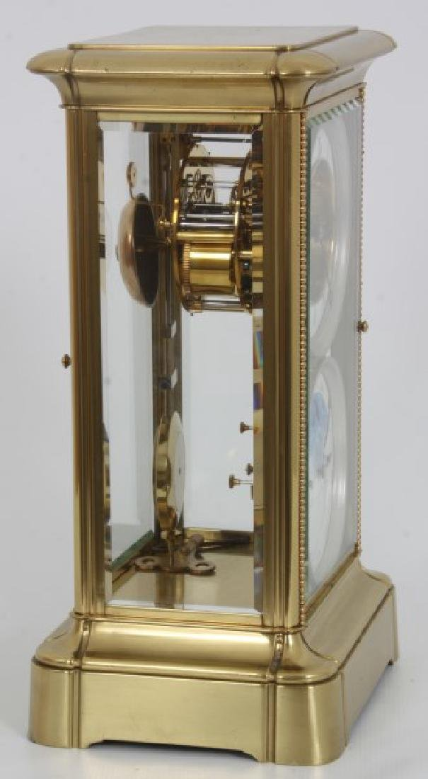 Brass Crystal Regulator Calendar Clock - 10