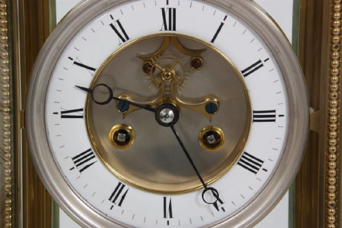 Brass Crystal Regulator Calendar Clock - 4