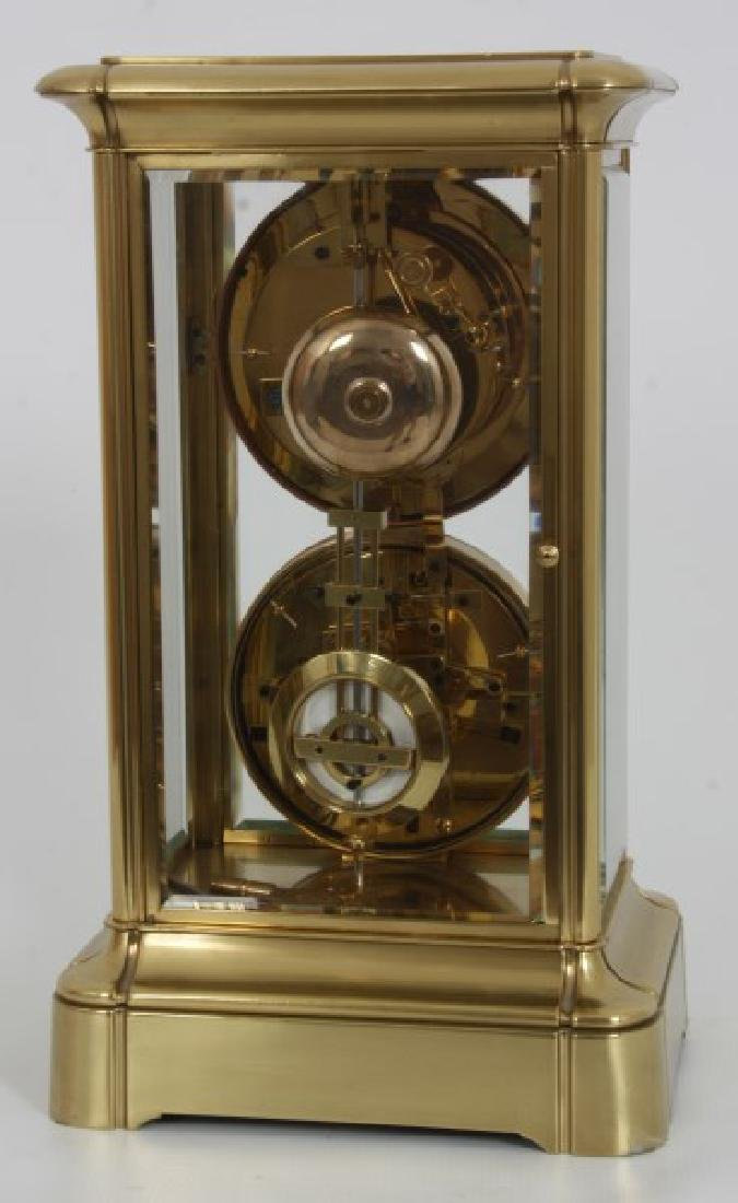 Brass Crystal Regulator Calendar Clock - 7