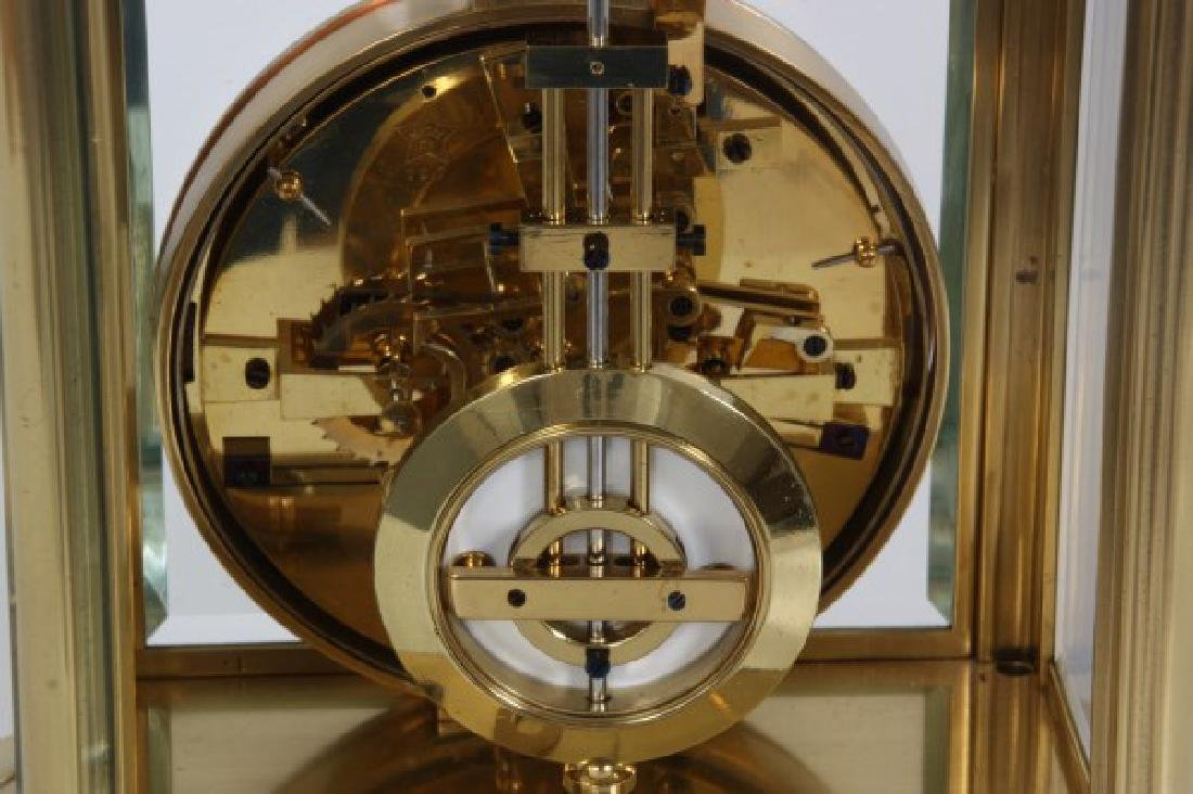 Brass Crystal Regulator Calendar Clock - 8
