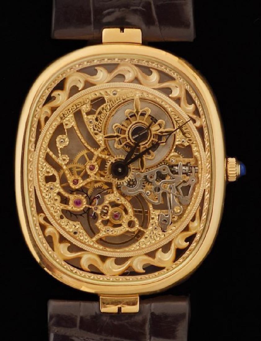 18K Patek Philippe Skeletonized Wrist Watch