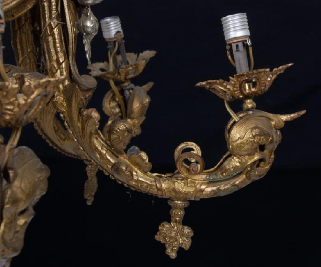 Large Figural 6 Arm Chandelier - 10