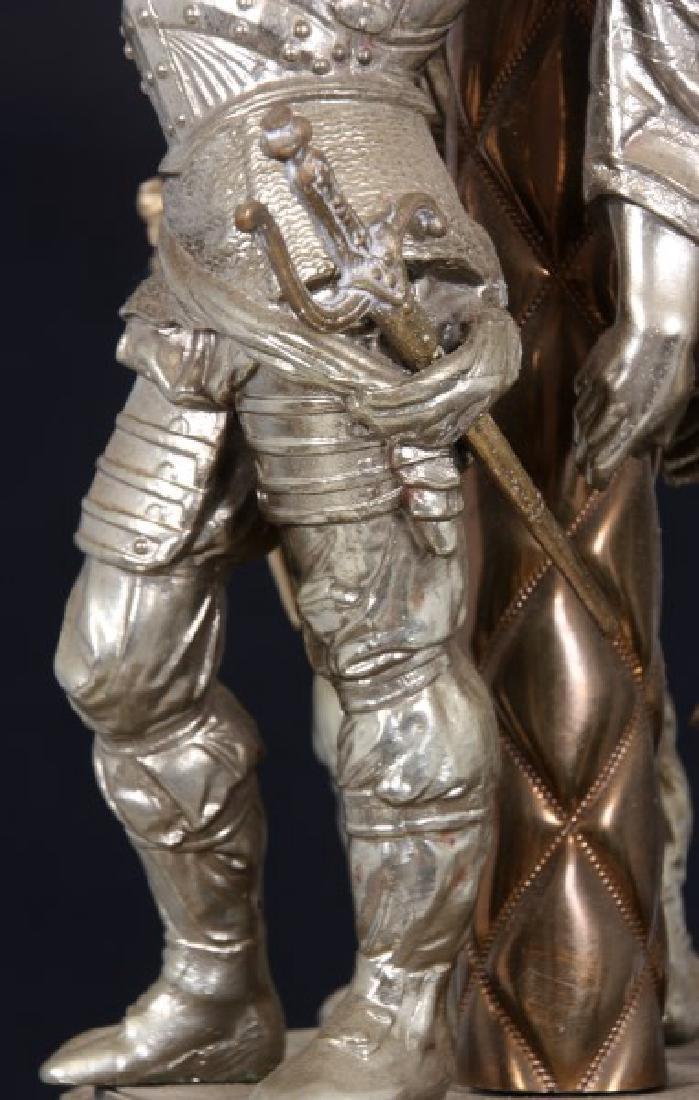 Large Figural 6 Arm Chandelier - 8