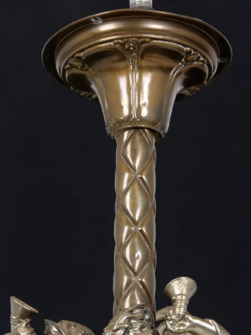 Large Figural 6 Arm Chandelier - 9