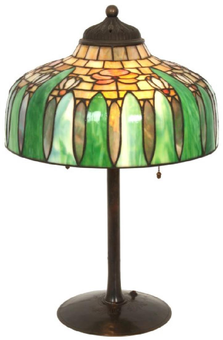 14 in. Signed H.G. Cleveland Table Lamp