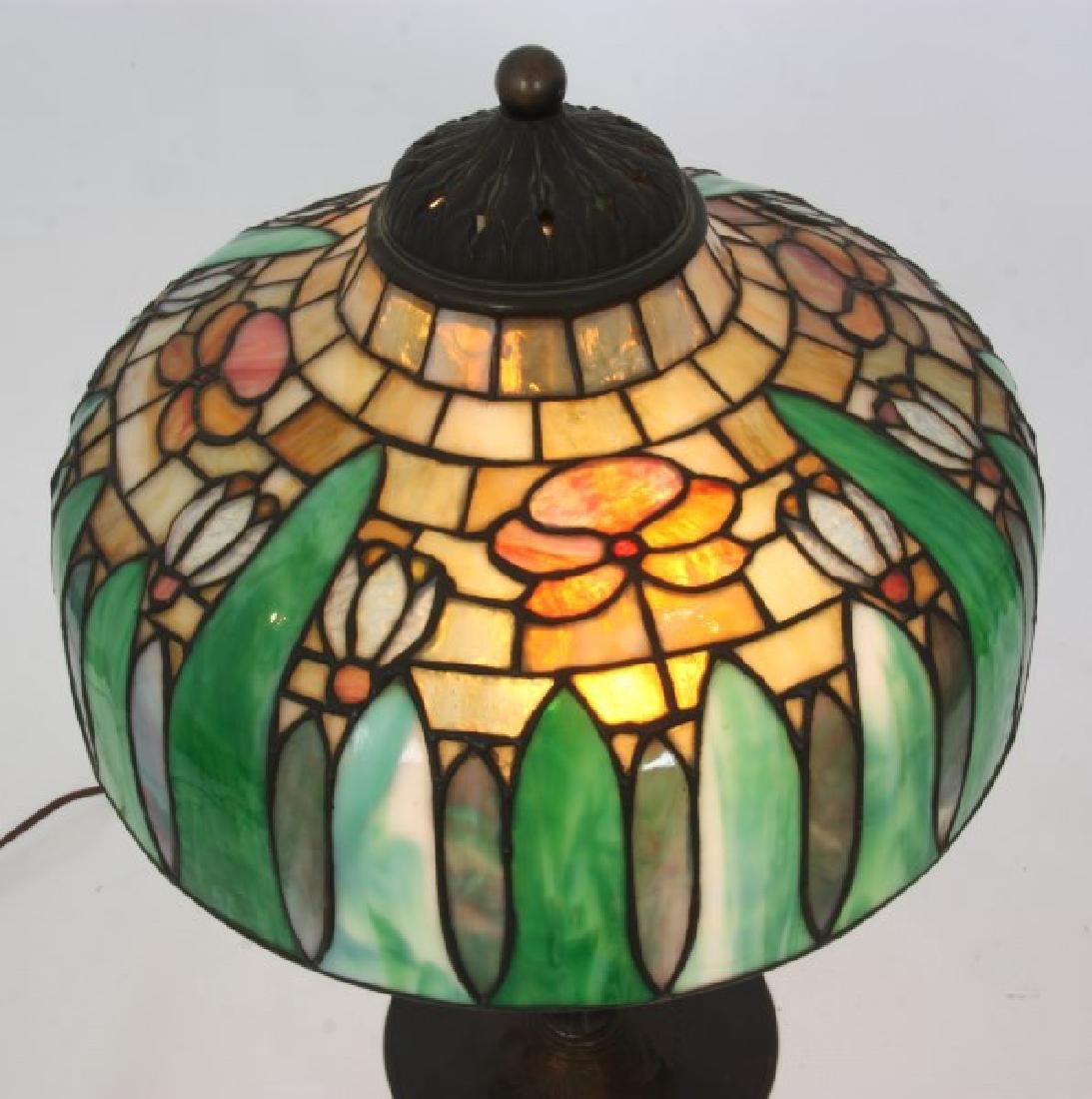 14 in. Signed H.G. Cleveland Table Lamp - 2