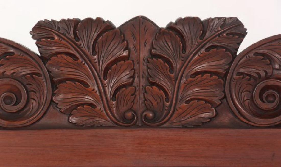 Acanthus Carved Mahogany 4 Poster Tester Bed - 4